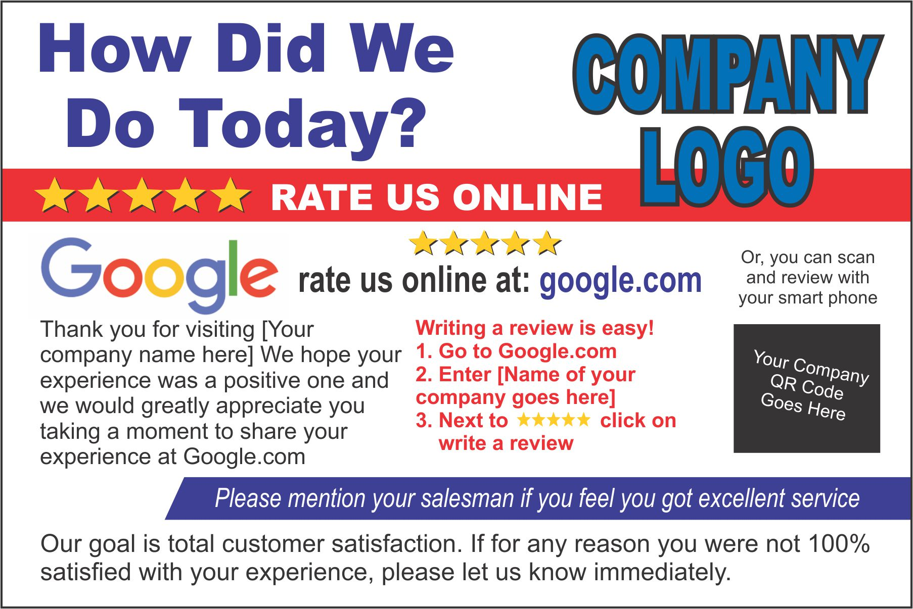 Rate Card - Google