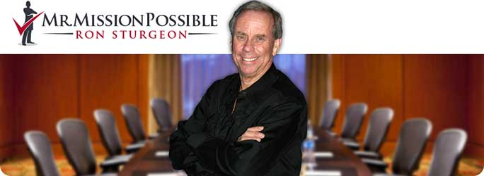 Ron Sturgeon - Ron Sturgeon, Mr. Mission Possible, has been a successful business owner for more than 35 years. As a small business consultant, he can deliver wisdom and advice gleaned from an enviable business career that started when he opened a VW repair business as a homeless 17-year-old and culminated in the sale of several businesses he built to Fortune 500 companies. Ron has helped bankers, lawyers, insurance agents, restaurant owners, and body shop owners, as well as countless salvage yard owners to become more successful business people. He is an expert in helping small business owners set the right business strategies, implement pay-for-performance, and find new customers on the web. As a consultant, Ron shares his expertise in strategic planning, capitalization, compensation, growing market share, and more in his signature plainspoken style, providing field-proven, and high-profit best practices well ahead of the business news curve. Ron is the author of nine books, including How to Salvage More Millions from Your Small Business.