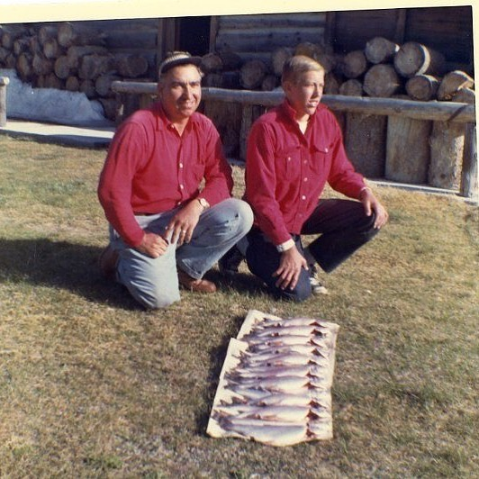 It's Friyay! What will you be doing this weekend? Maybe a little of this!? . . We really want to know // { Do you recognize these fishermen in front of the Hayden Cabin? Help us uncover Mammoth mysteries! The Southern Mono Historical Society hopes you can help identify some of the older photos in our collection. We believe the photo was taken in the mid-1960's. Send your answers to info@mammothmuseum.org. Mammoth Museum at the Hayden Cabin is now OPEN, so stop by and check out our collection and the events we have planned for the summer. Visit us at mammothmuseum.org for further information! } 🤗 See you soon!