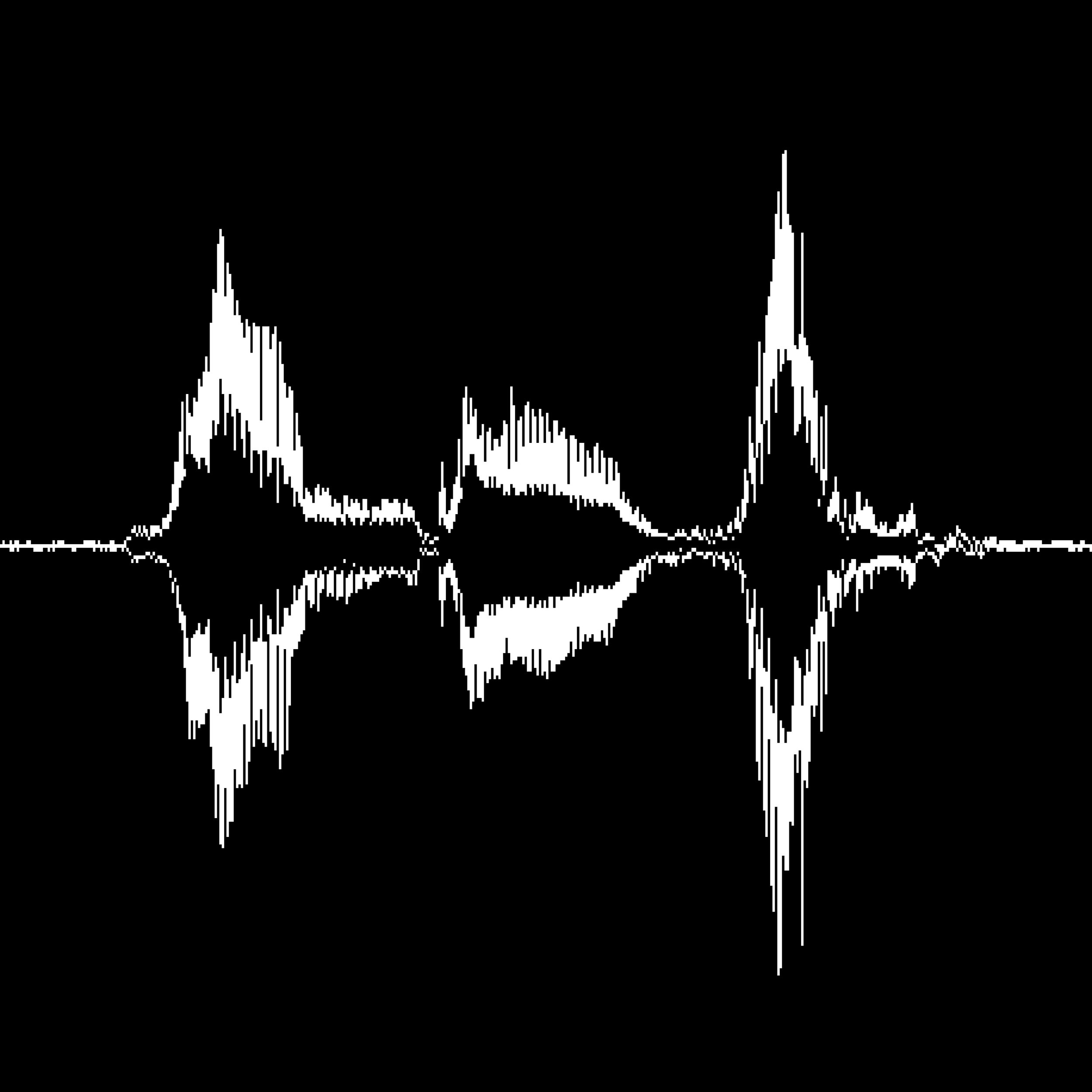 back to black - black backdrop with white soundwave