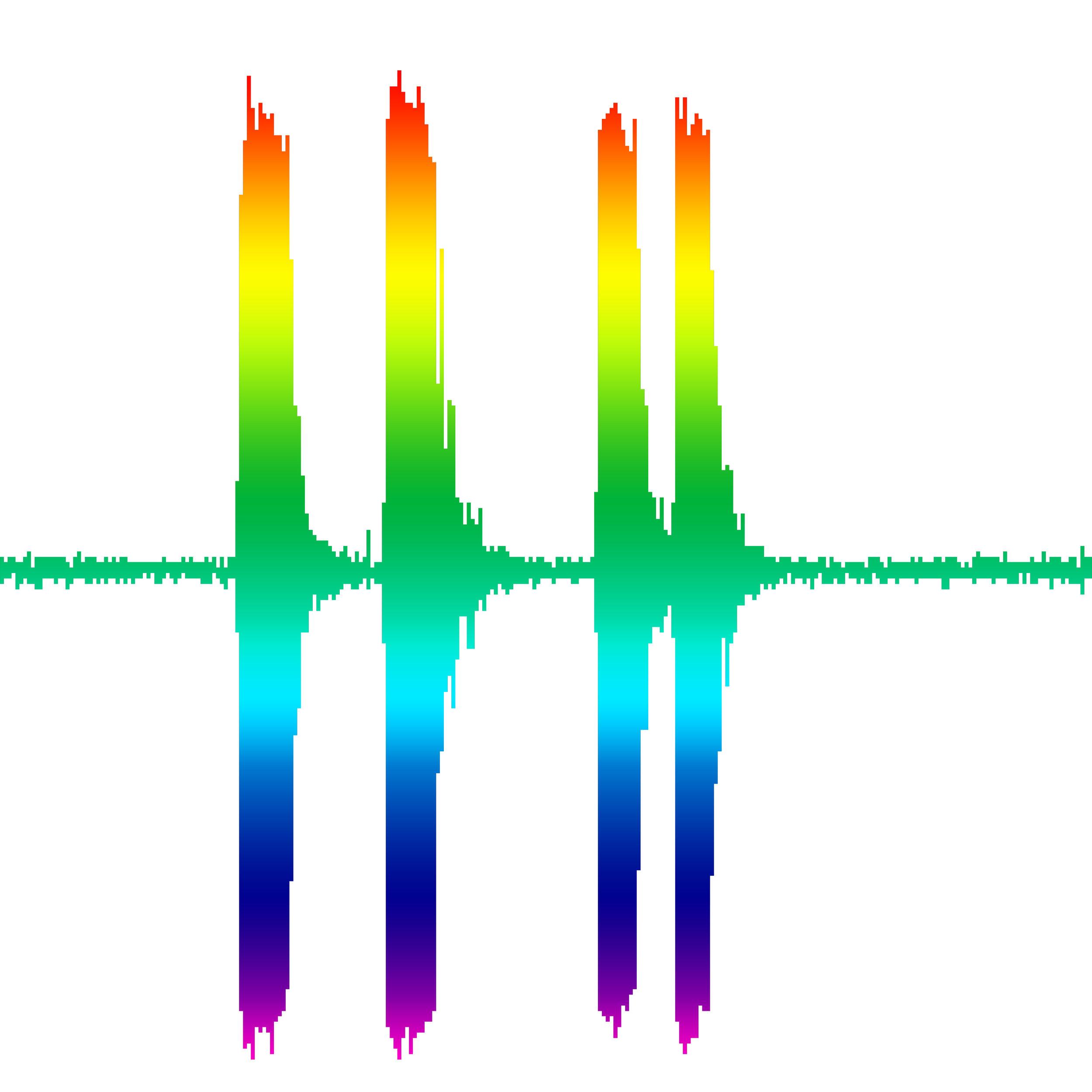 HIGHWAY UNICORN - horizontal rainbow against white = pure magic