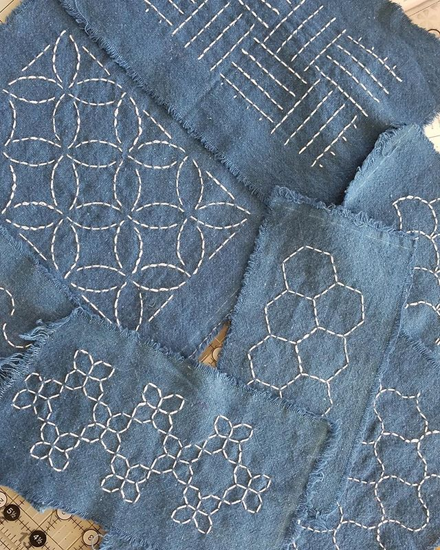 Join us on May 9 to learn the art of Sashiko from @heather_k_powers! This traditional sewing art is used to beautifully reinforce and repair old garments, or simply add unique decoration to your clothes! Space is limited; reserve your spot on the website. 🧵 . #thingstodoincharleston #charlestonseamstress #sashiko #sashikostitching #mending #sustainablefashion #sewingclass #mendandmakedo