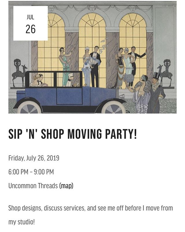 One last hurrah before I leave this studio space! Come sip some bubbly and help me lighten my load by shopping @ulalumelingerie designs, vintage pieces, and one of a kind creations. ✨🥂 . #uncommonthreadschs #charleston #charlestonseamstress #seamstress #handmade #movingsale #sipnshop