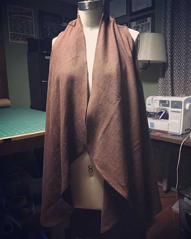 Custom linen swing vest/wrap for a client who likes to layer!