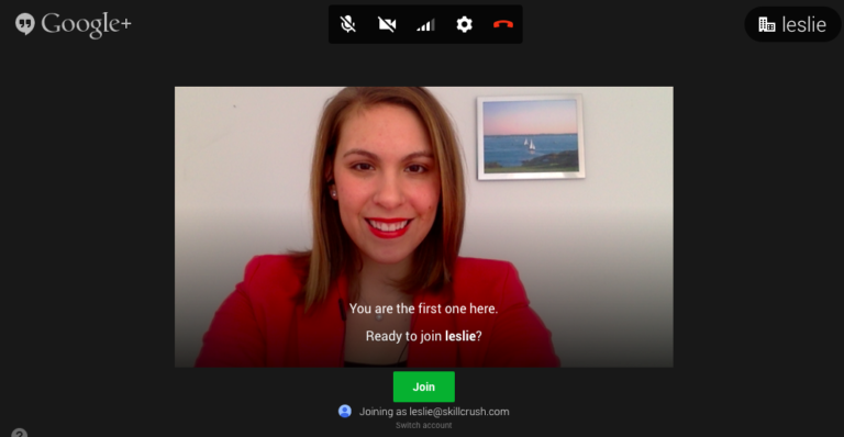 Aha! The light coming from the window in front of me makes for a crisp, clear, and professional video chat image.