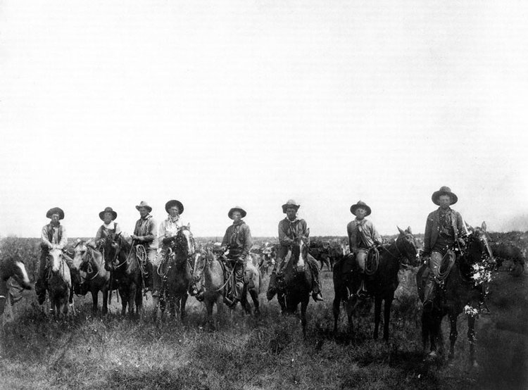 Crews Ranch Cowboys, Early 1900s. Photo courtesy of University of North Texas Libraries, The Portal to Texas History