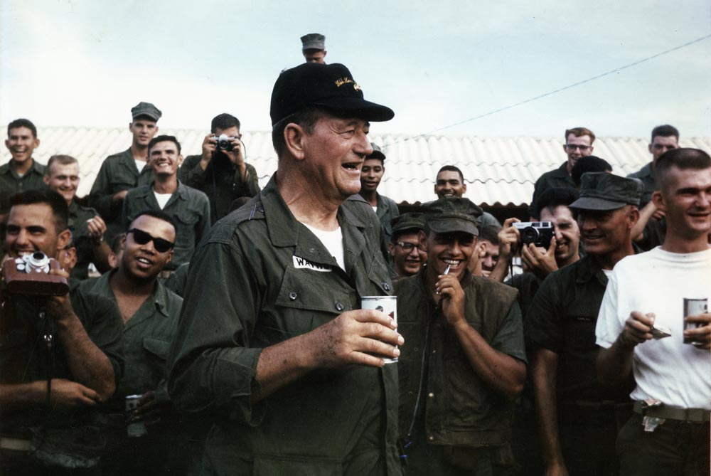 John Wayne visiting the troops in Vietnam in 1966. Photo courtesy of CPL. L. L. Atherton