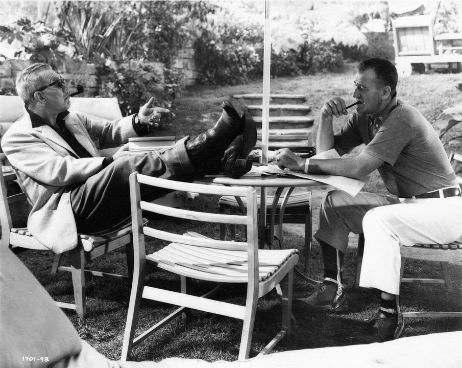 Ward Bond and John Wayne while filming  The Wings of Eagles  (195). Photo courtesy of MGM