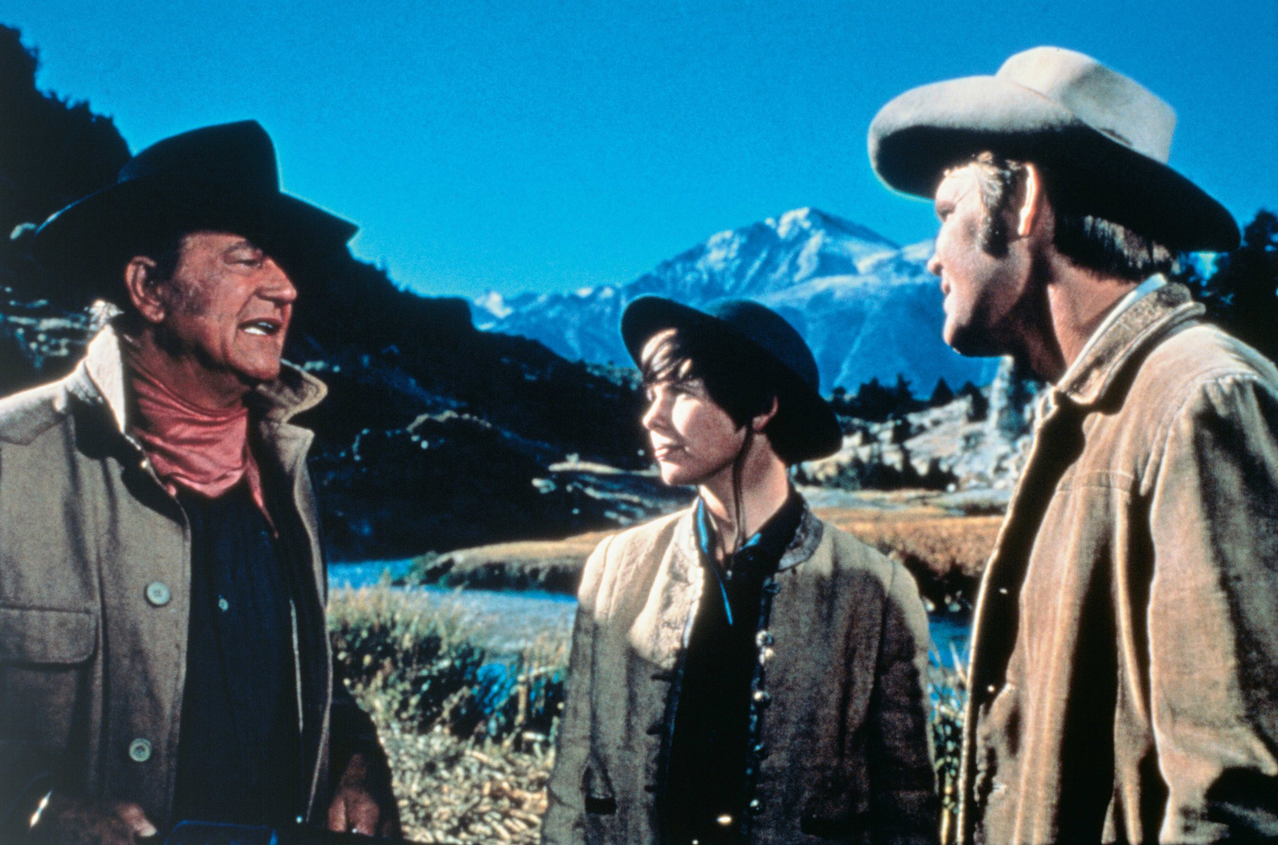 John Wayne, Kim Darby and Glen Campbell. ©2019 Paramount Pictures. All Rights Reserved.