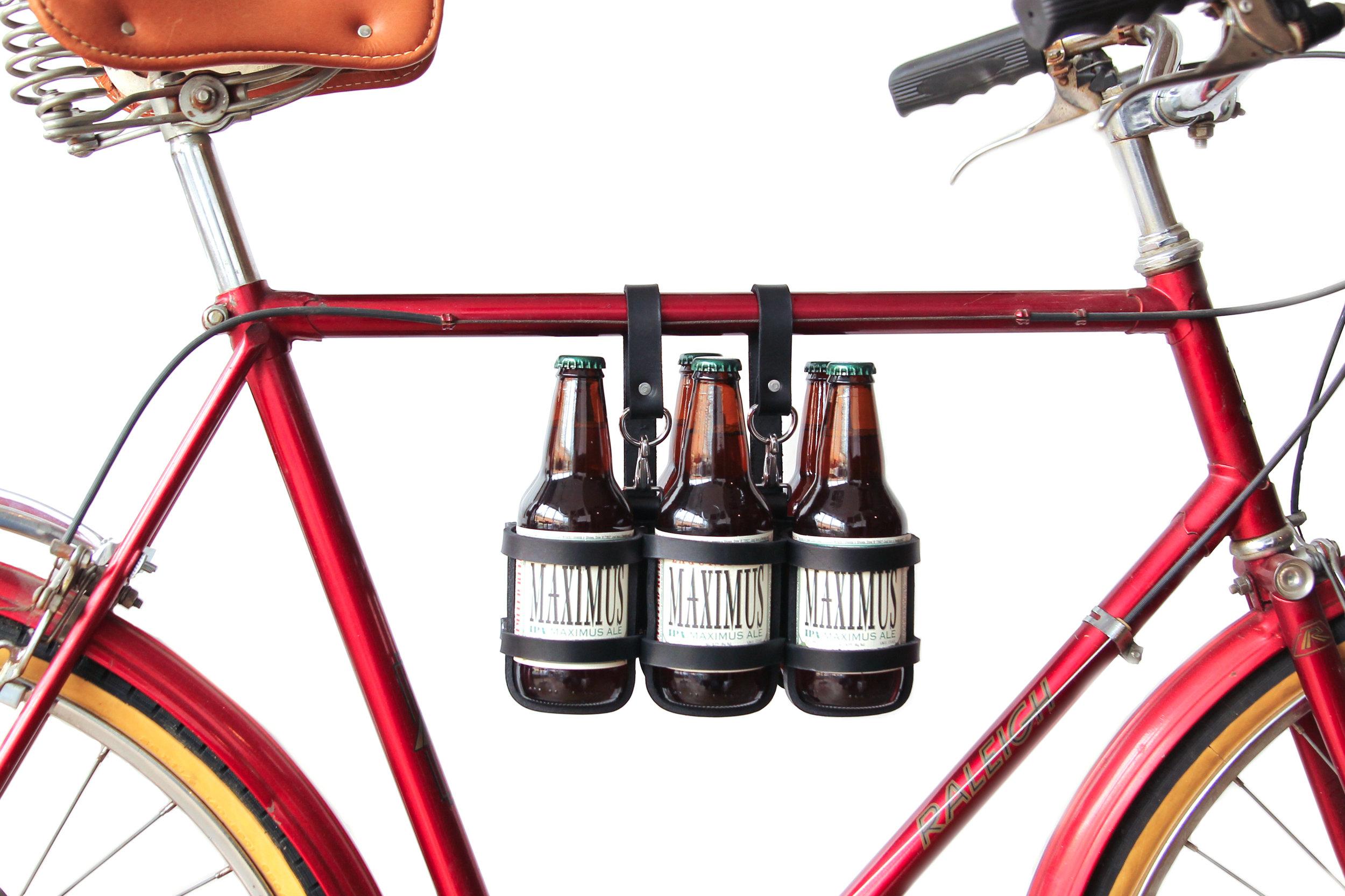 Jay Teske bicycle beer carrier. Photo by Kelli Williams.