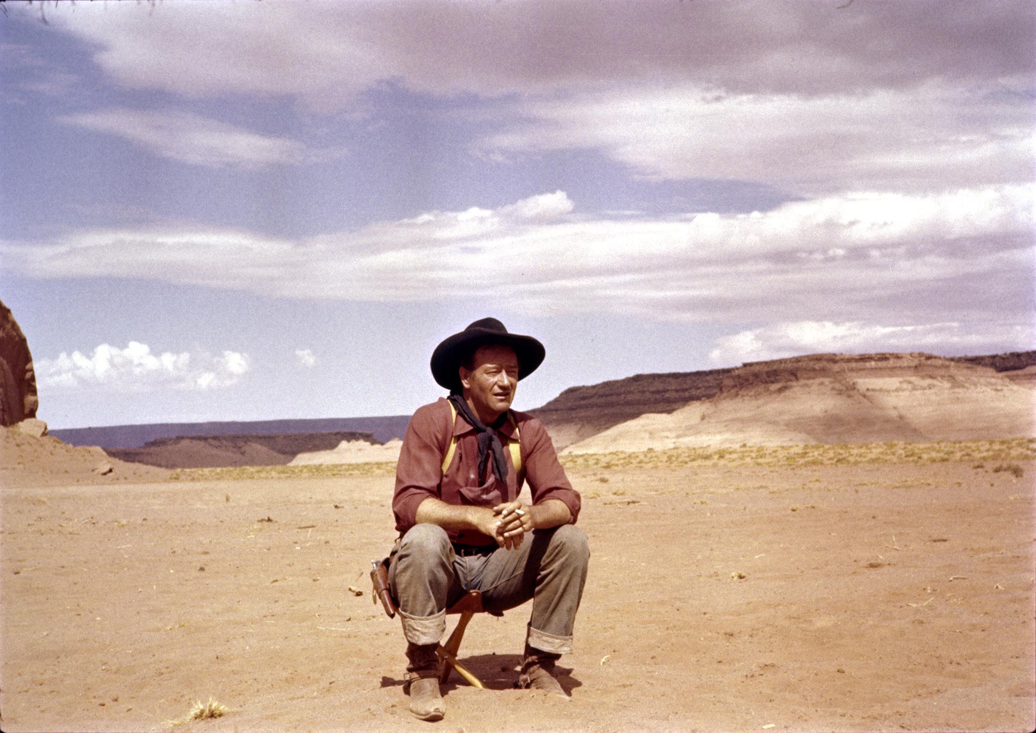 Duke looking effortlessly cool in The Searchers (1956). © John Wayne Enterprises / John R. Hamilton Collection