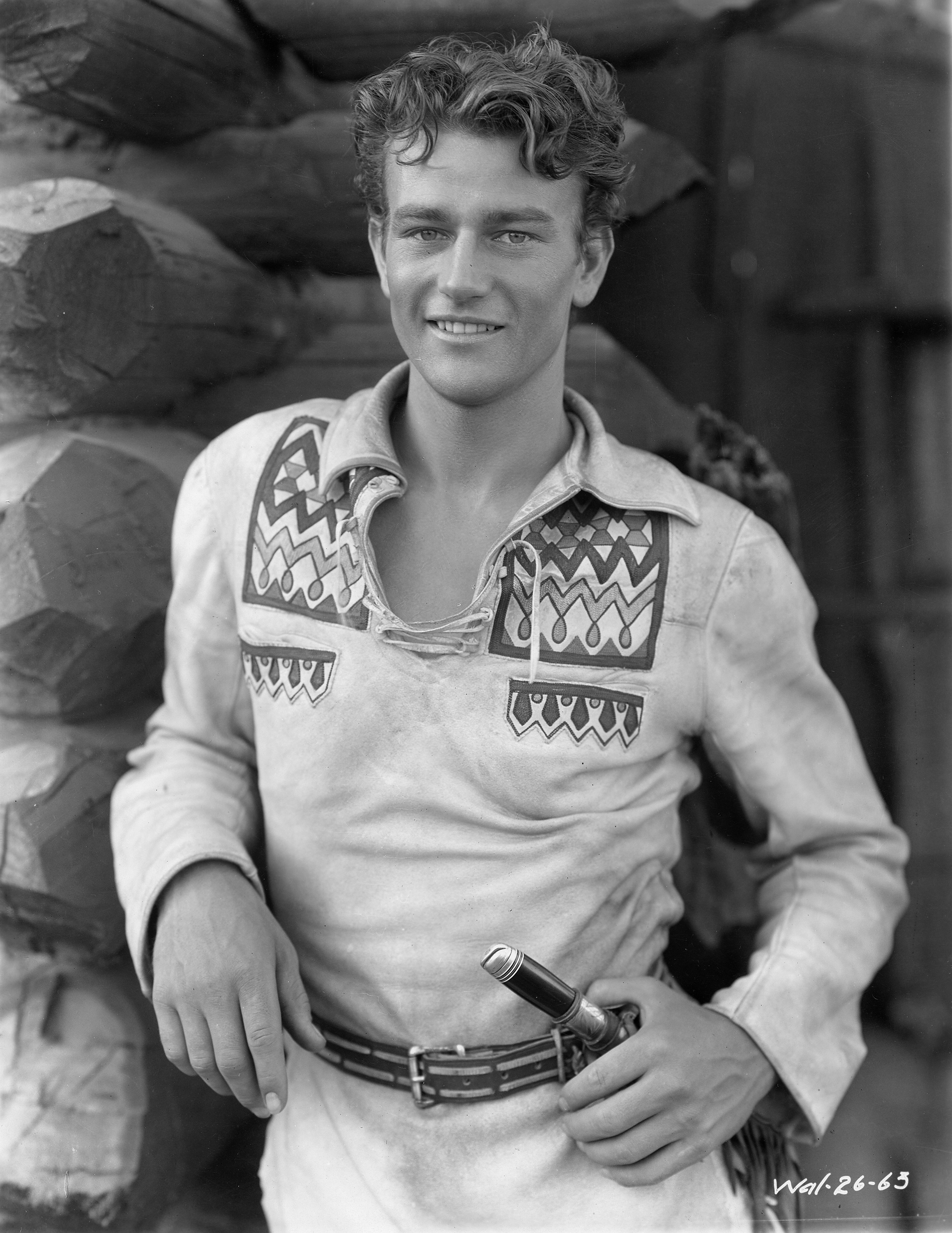 At 22, John Wayne was given his first major role by director Raoul Walsh in  The Big Trail  (1930), where he starred as trail scout Breck Coleman earning $75 a week.
