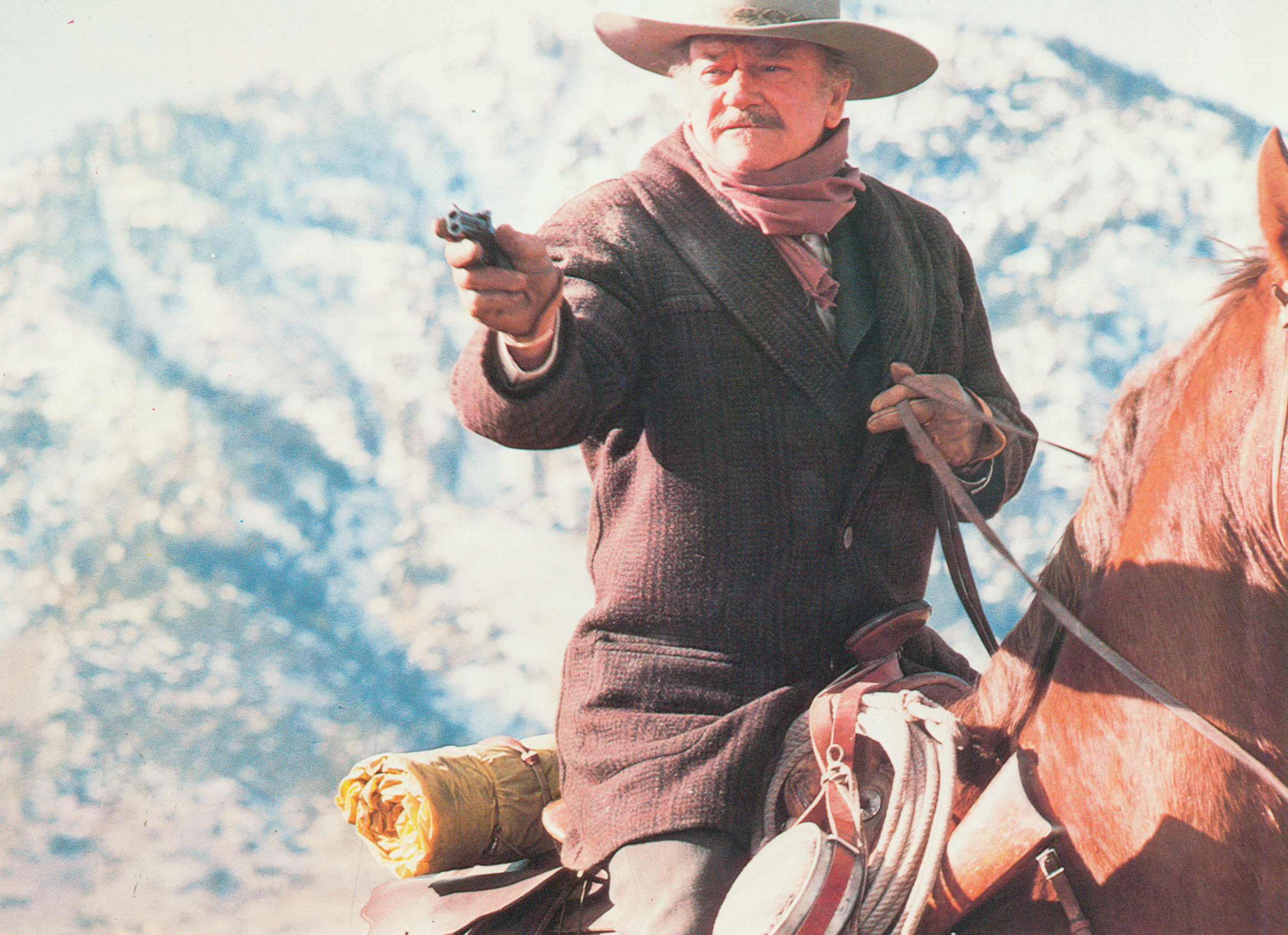 In iconic fashion, John Wayne portrays an ailing gunfighter in the  Shootist  (1976), and what would also be his final of 200 films throughout a 50-year career. Two years following, John Wayne would undergo heart surgery and again battle cancer.