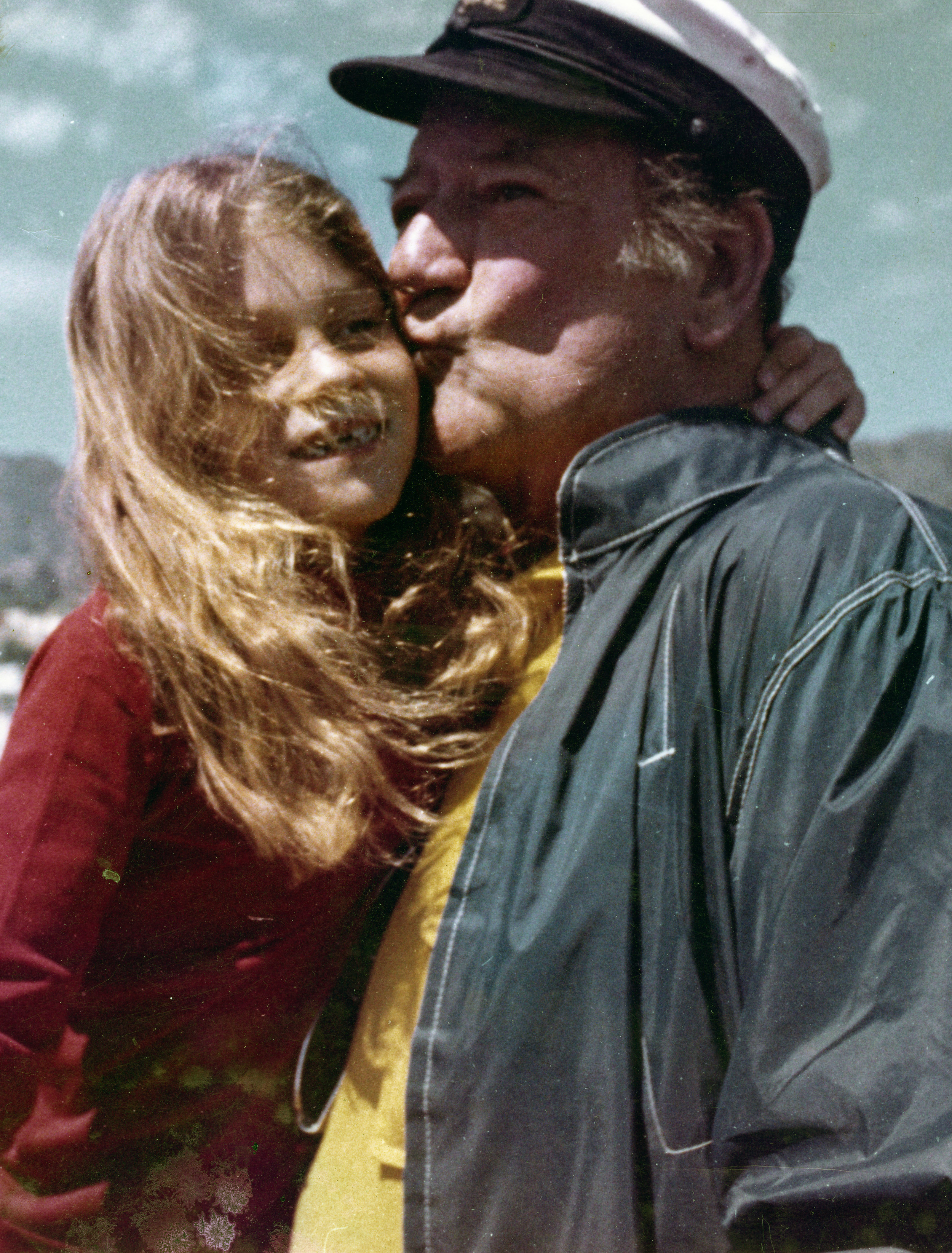 Marisa Wayne with her father John Wayne.