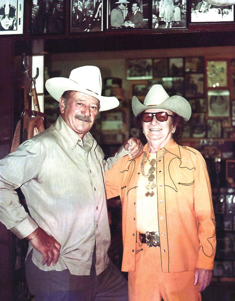 John Wayne and tailor Nudie Cohn