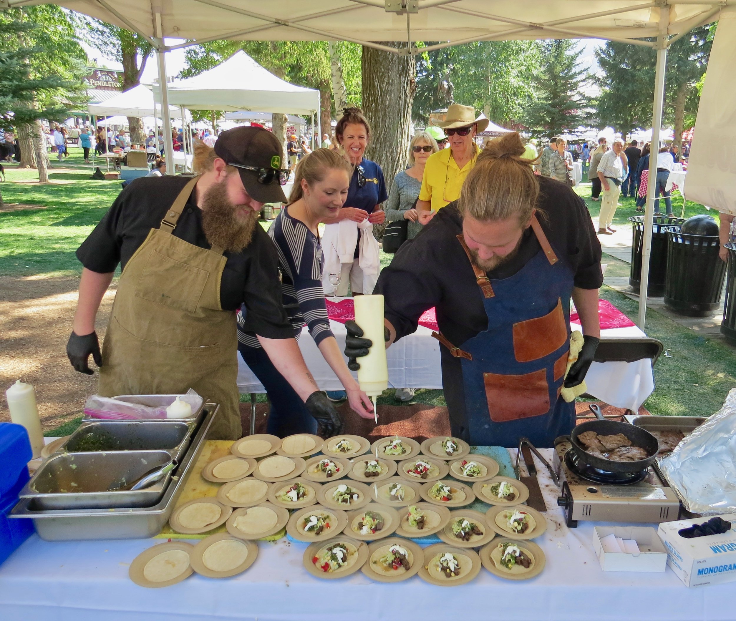 Taste of the Tetons, a sampling of cuisine from local chefs and restaurants