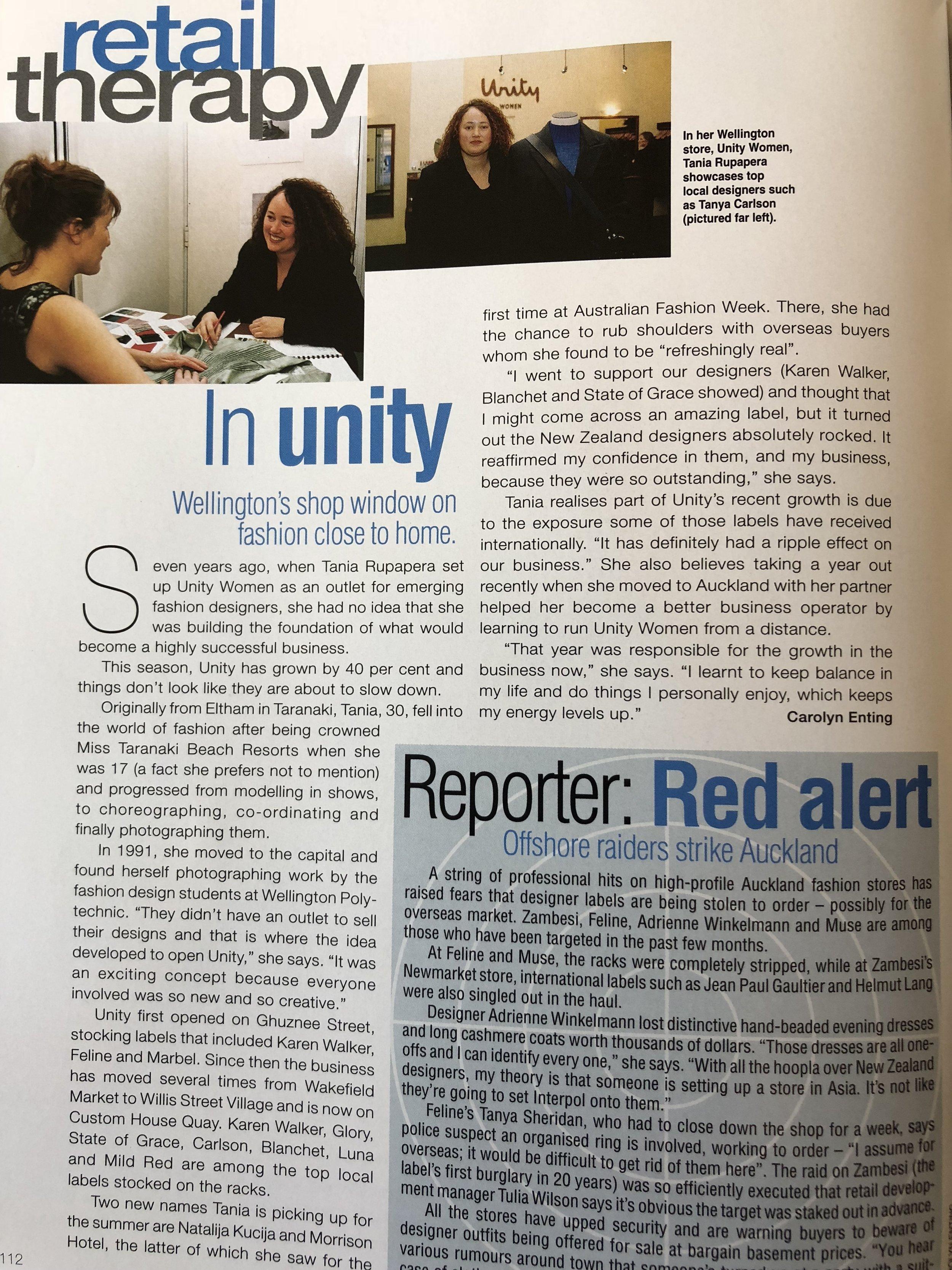 fashion quarterly - magazine interview