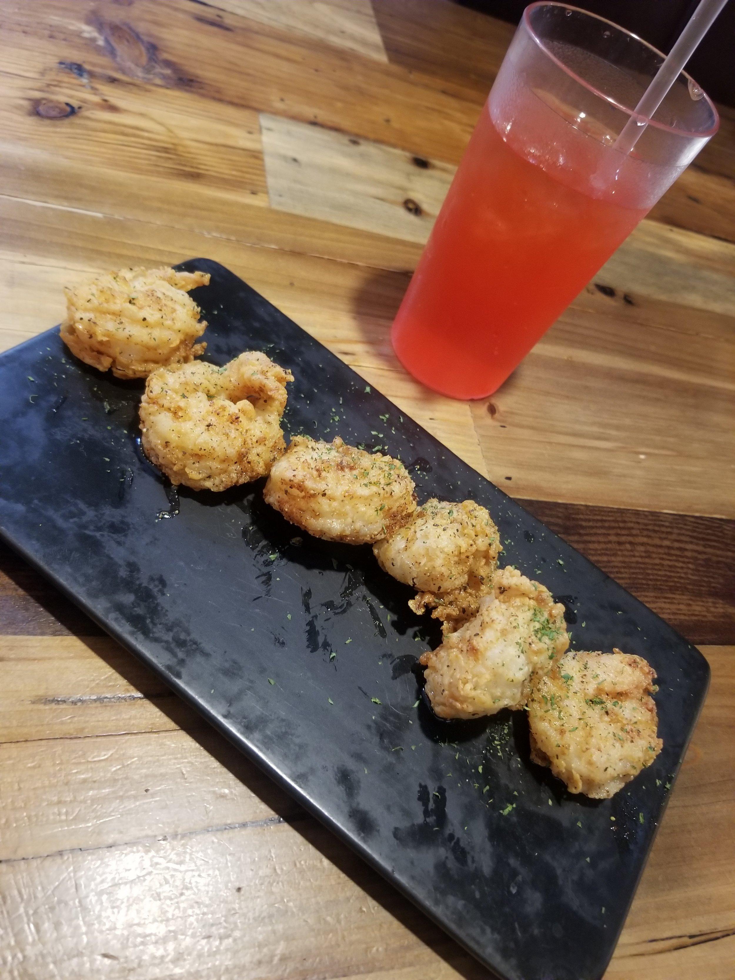 Starter- Lemon Pepper Jumbo Shrimp (6)- $18