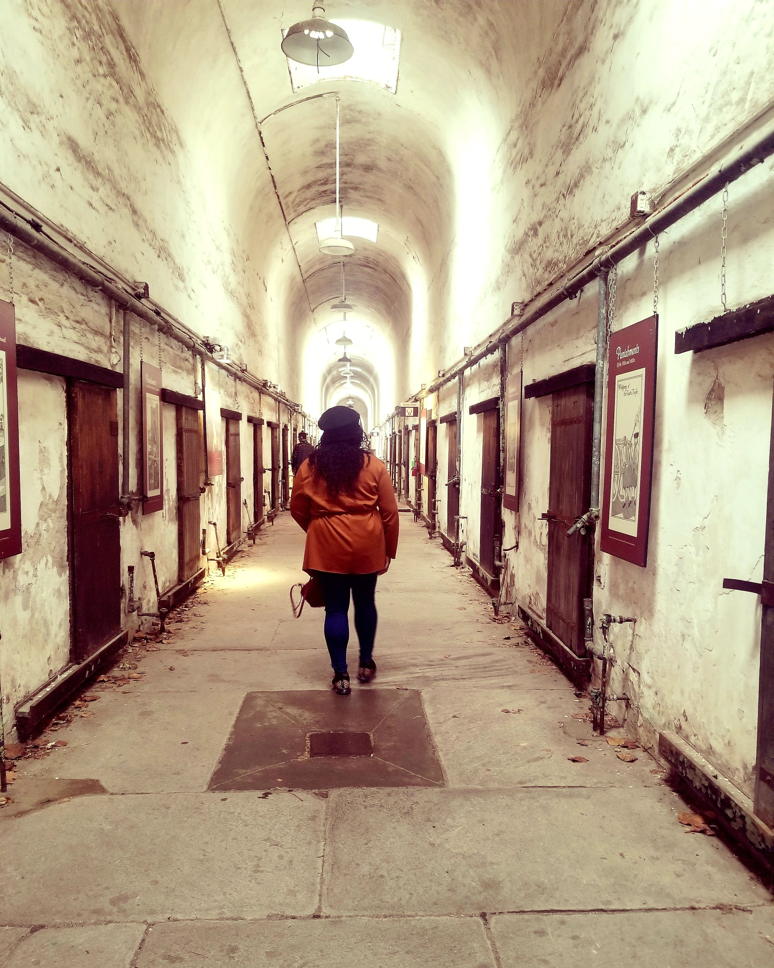 The Eastern State Penitentiary was the first penitentiary in the U.S.. The tour is audio guided, all you have to do is enter the number at each spot to hear the history. The entire tour takes about 1.5 hours to 2 hours to finish if you listen entirely and stop at each spot. The location is supposedly haunted, but I didn't get that feeling.