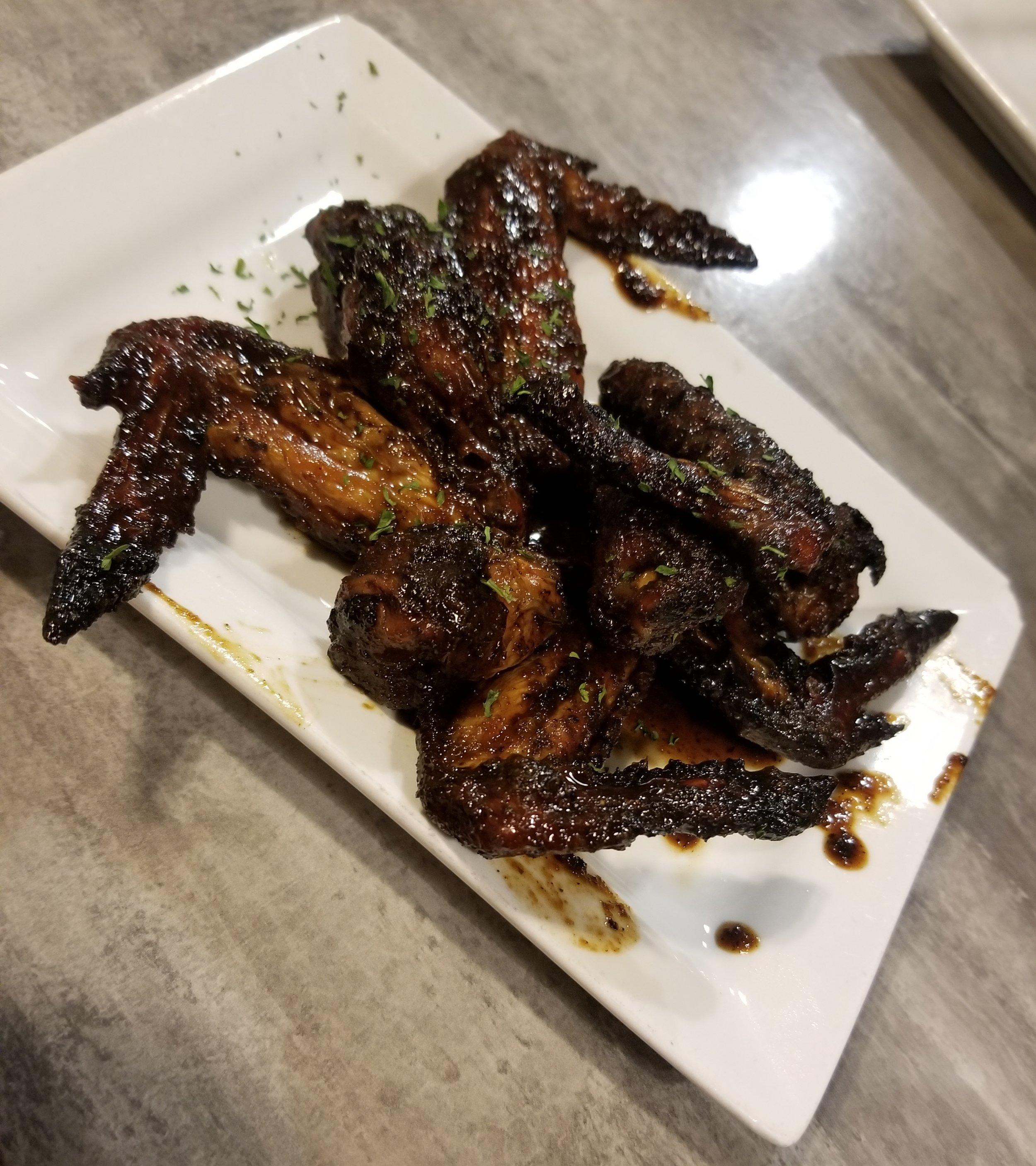 BBQ Jerk Wings (4) $8.00
