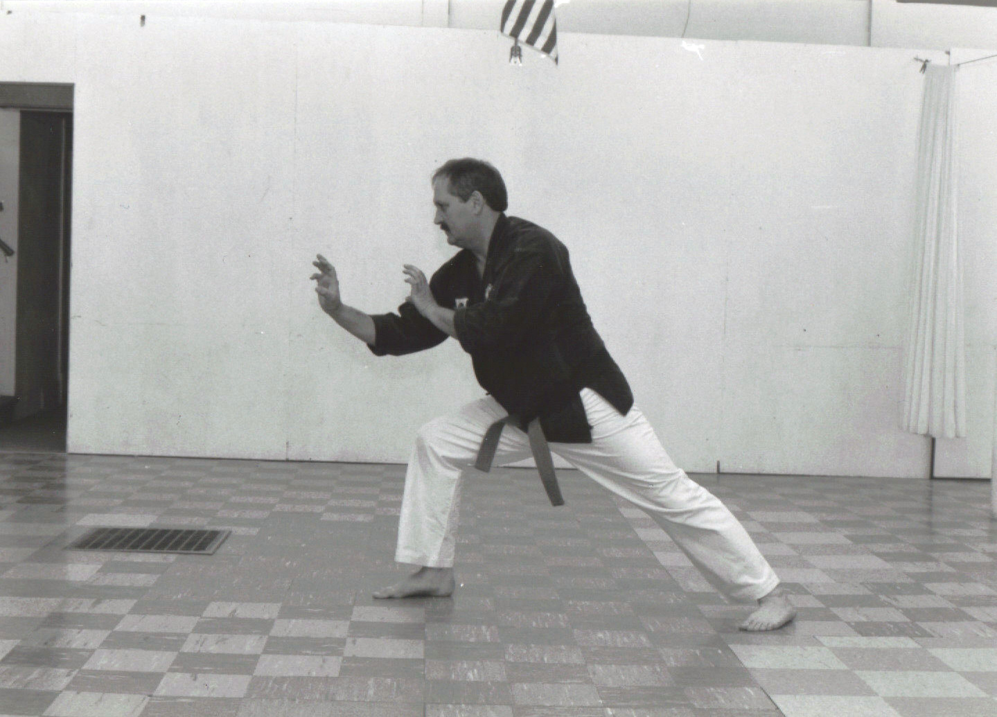 Grandmaster A.F. Walker demonstrating a Tiger posture.