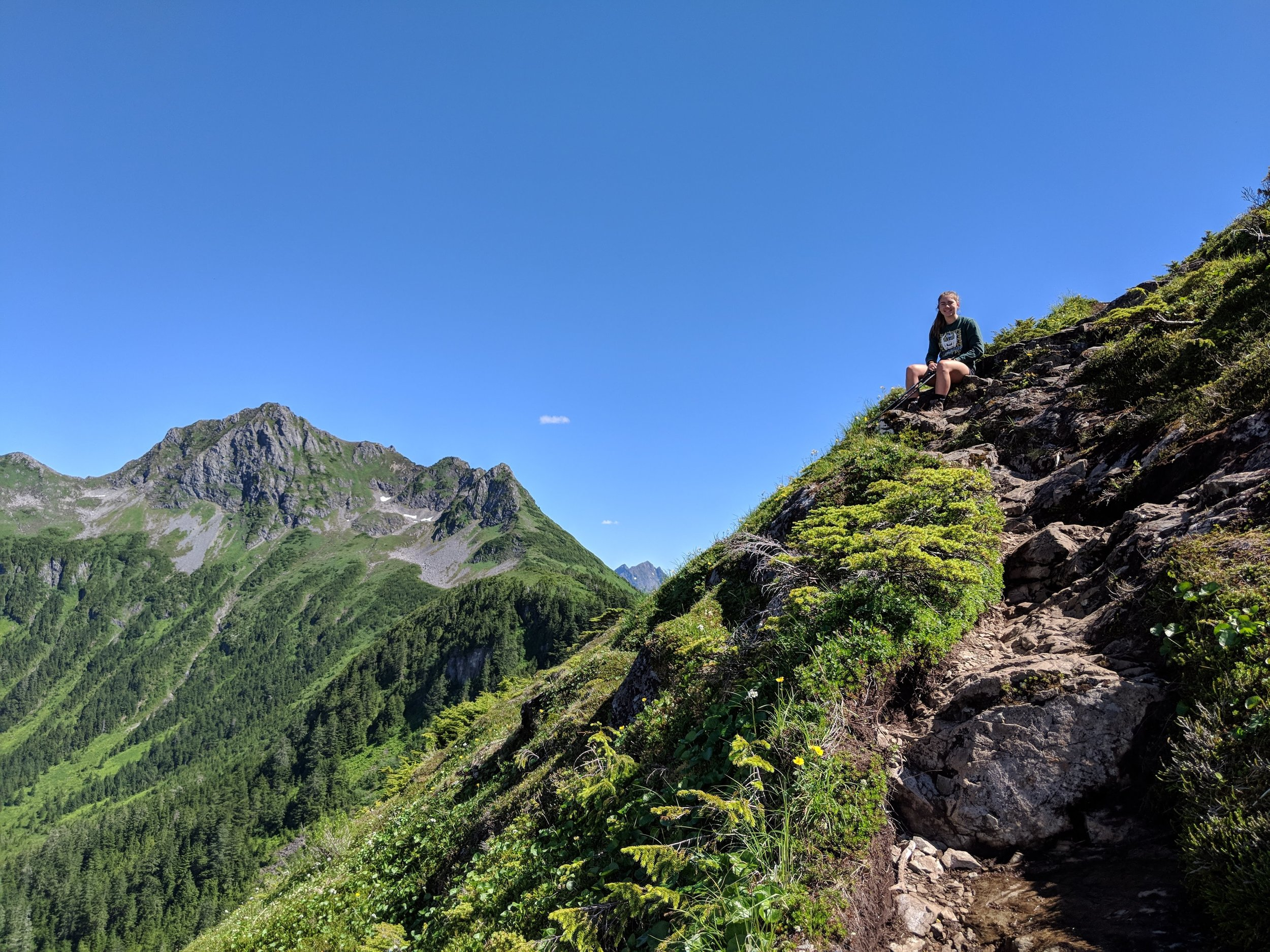Roger's youngest daughter, Mykayla, after we finished climbing  Mt. Verstovia in Sitka, Alaska   @roger.cummings