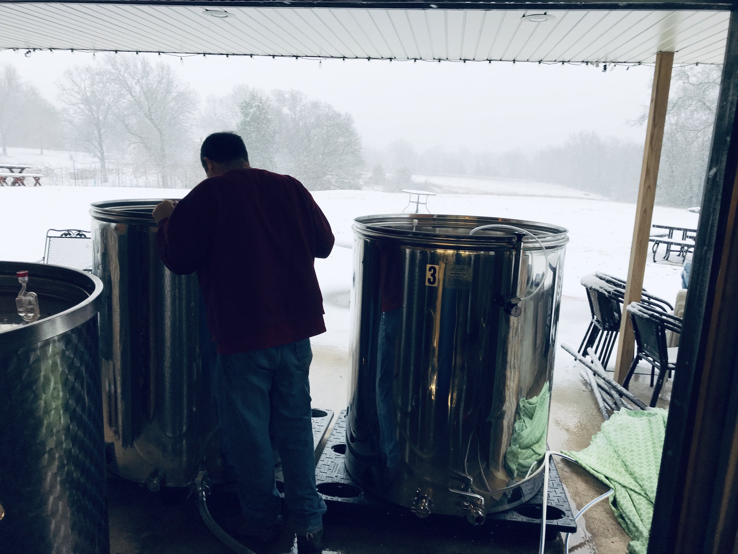 Winter - WE RE-RACK AND FILTER WINE