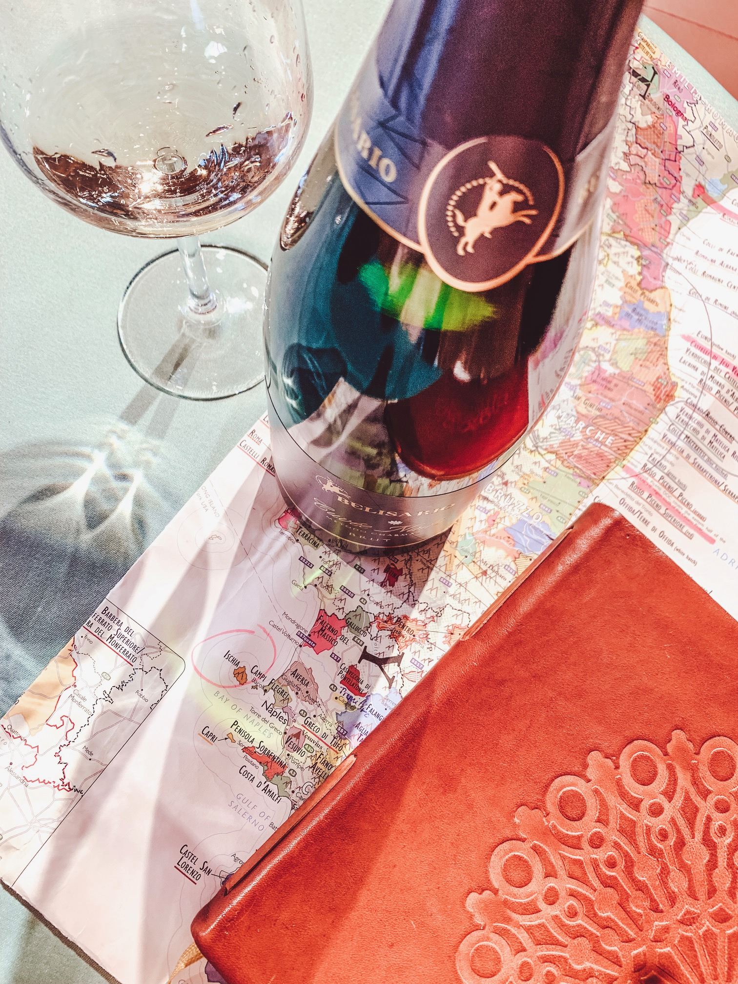 The marked up wine map that would make Magellan proud