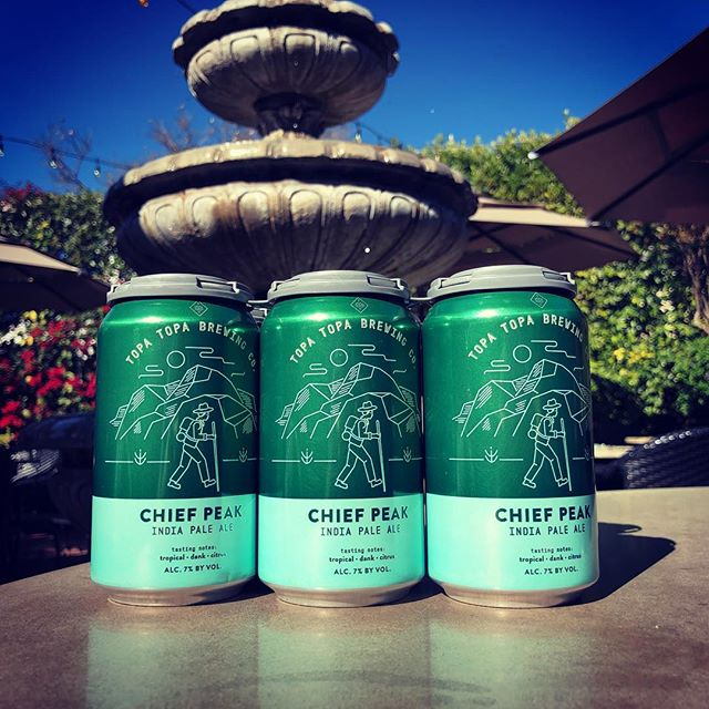Topa Topa! Now served on your favorite patio. #santabarbra #topatopa #topatopabrewery #lebanese #summer #cheifpeakipa