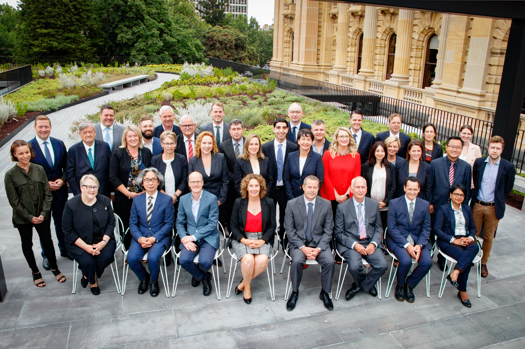 Newly sworn-in Members of the 59th Parliament of Victoria