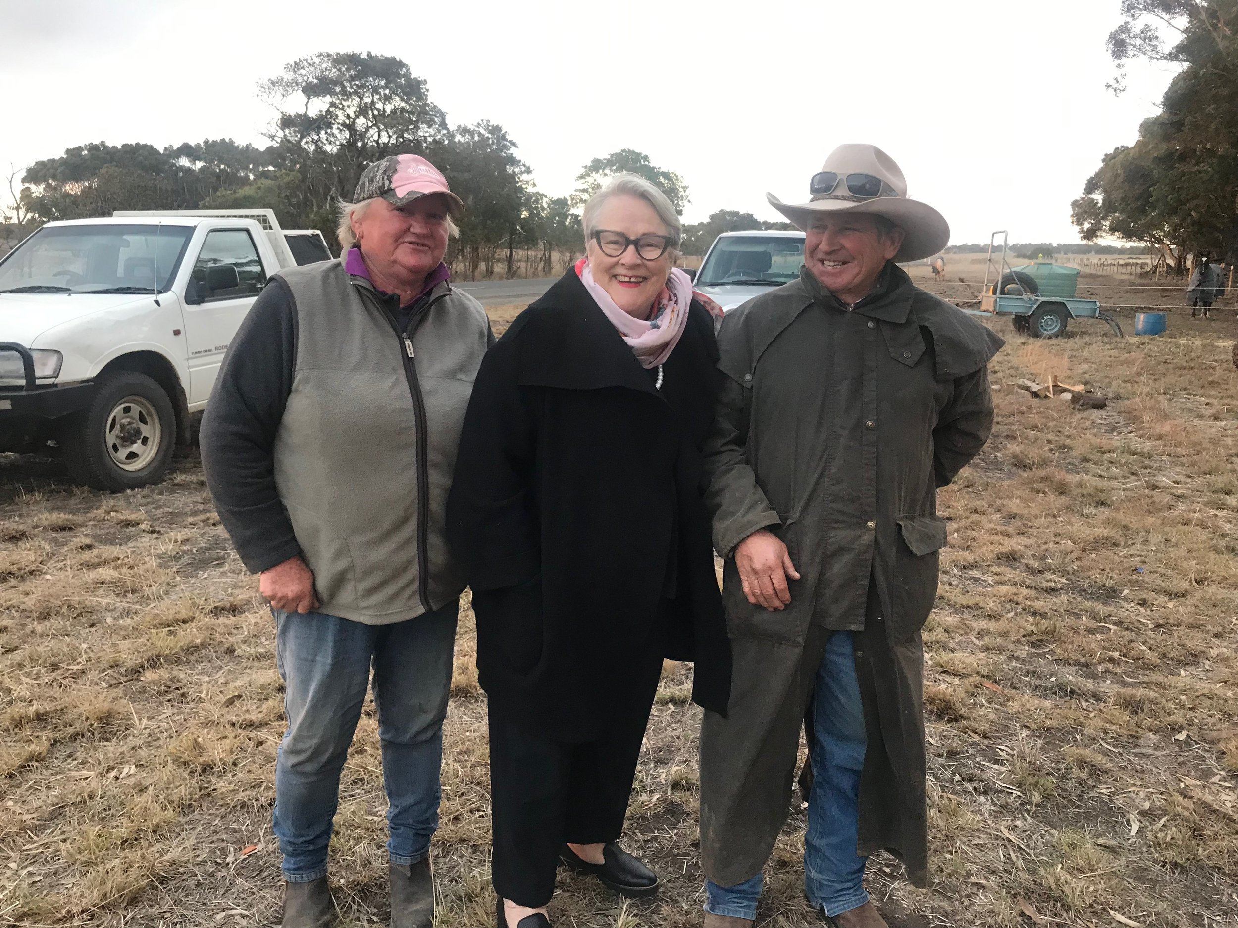 Drover John Wilson and his wife, Rhonda, who was determined to drove cattle from drought-stricken cattle from New South Wales, but was forced out by state government departments.