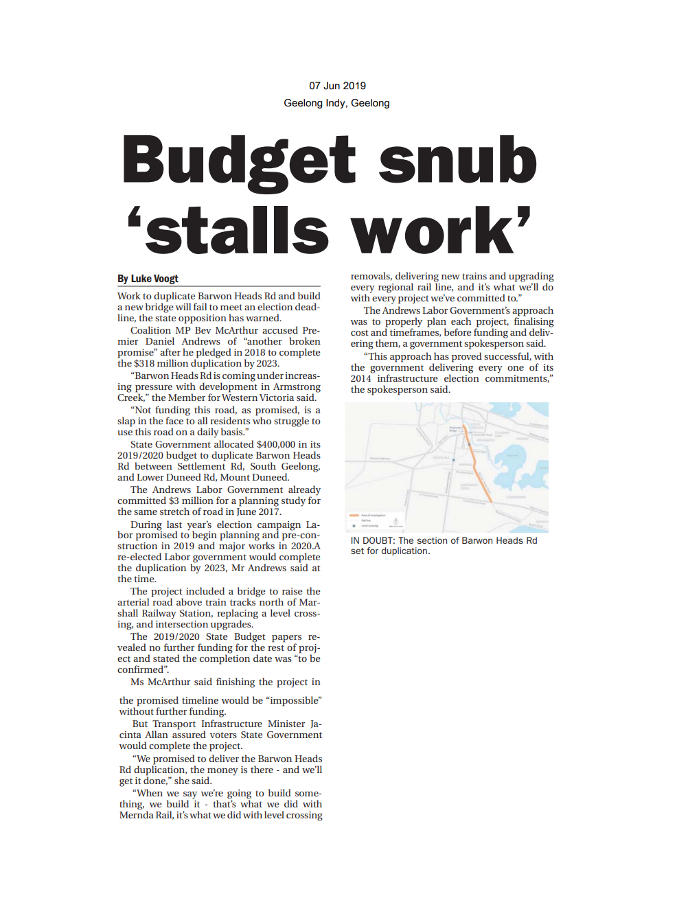 07062019 Budget snub 'stalls work' - Geelong Indy.png