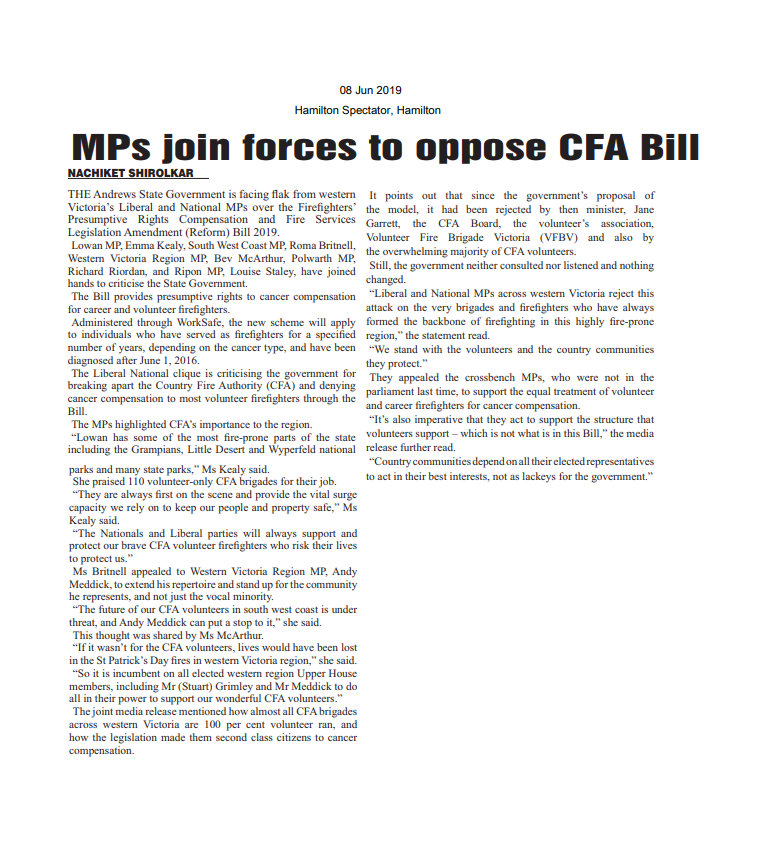 08062019 MPs join forces to oppose CFA Bill - Hamilton Spectator.png