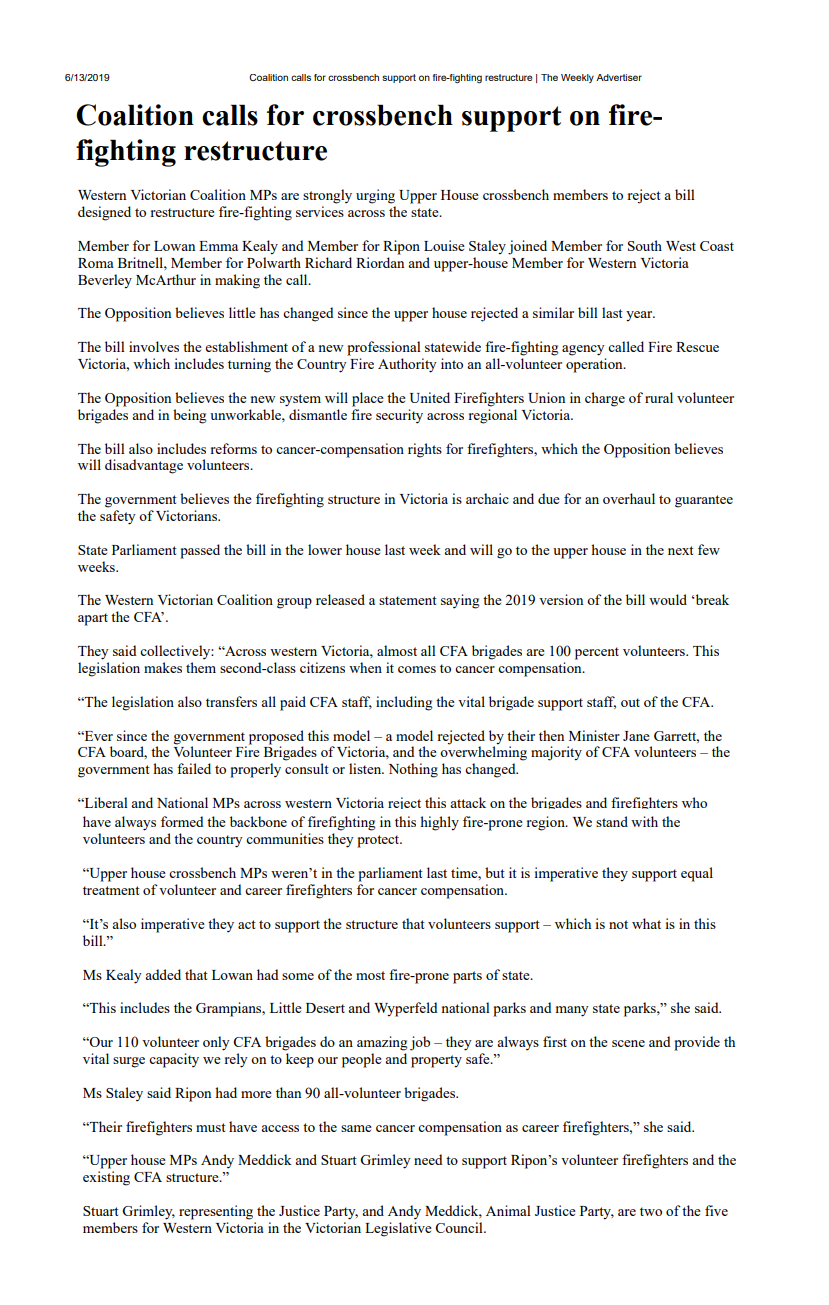 13062019 Coalition calls for crossbench support on fire-fighting restructure.png