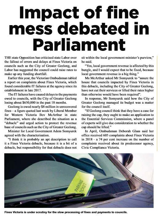 Impact of Fine Mess Debated in Parl.JPG