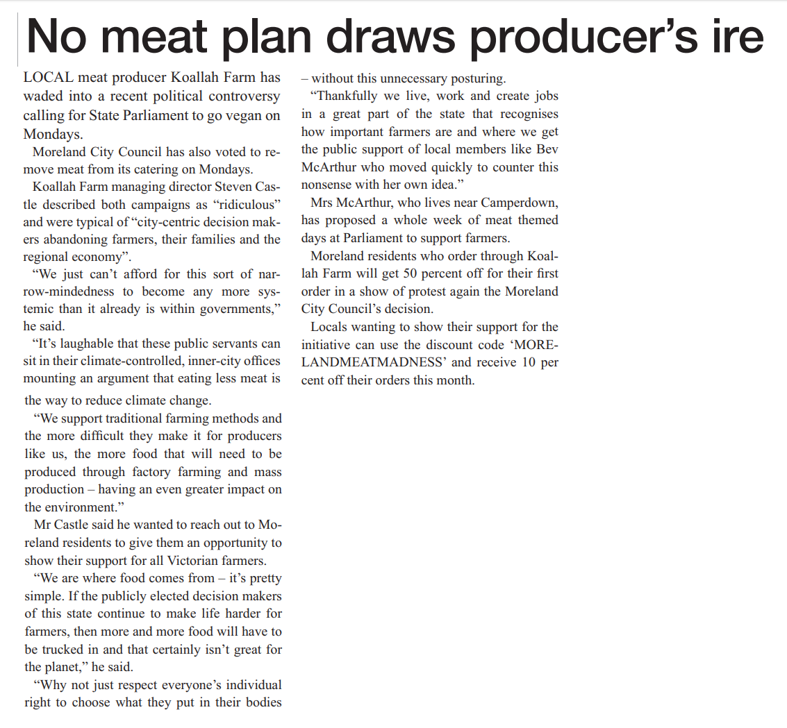 No meat plan draws producer's ire.png
