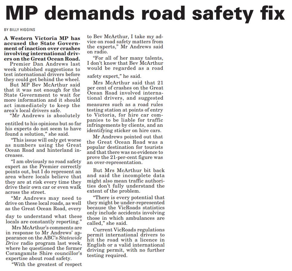 MP demands road safety fix.png