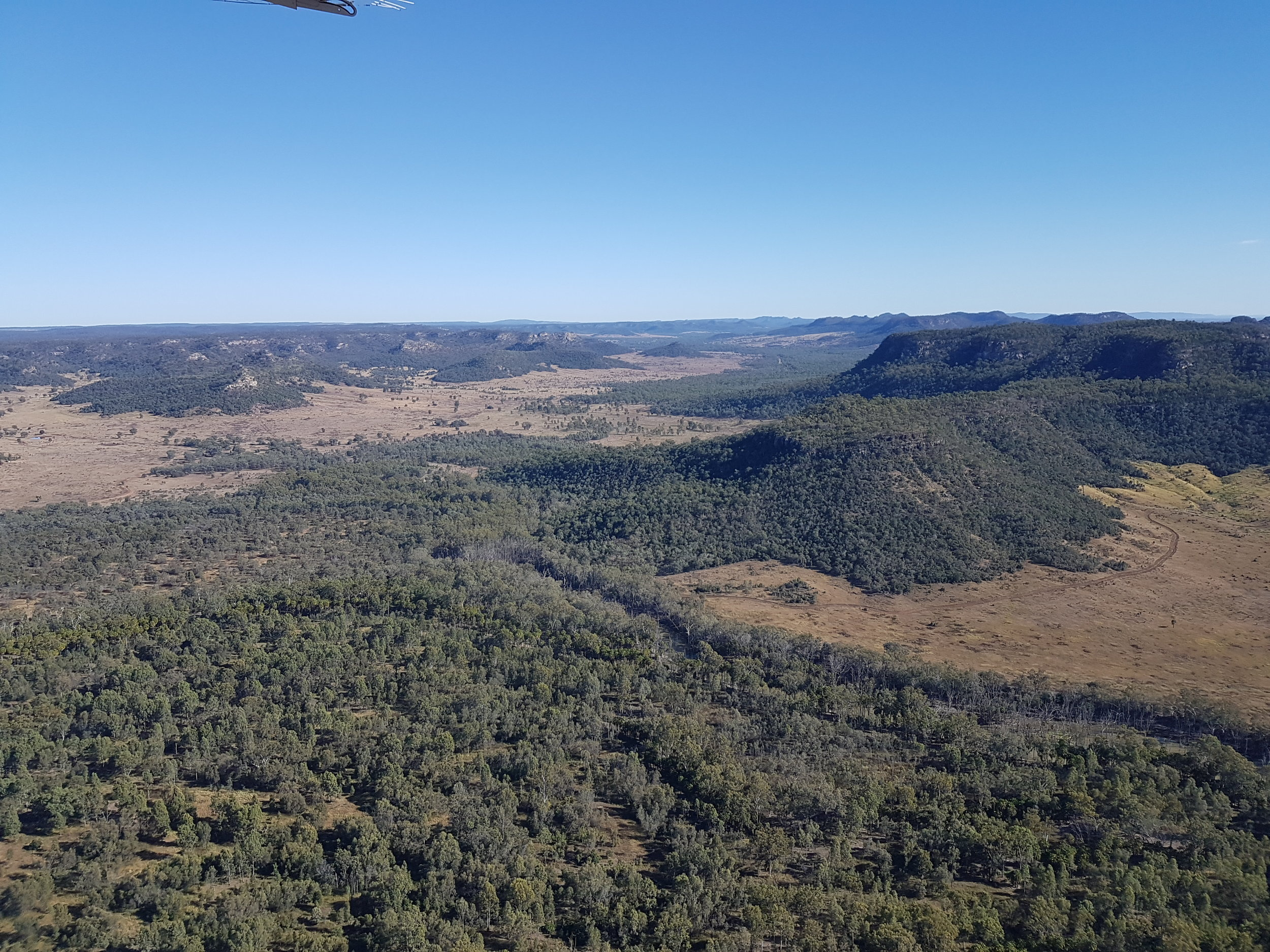 Aerial view looking out over Wulli Wulli country, Queensland, Australia. © Everick Foundation Ltd