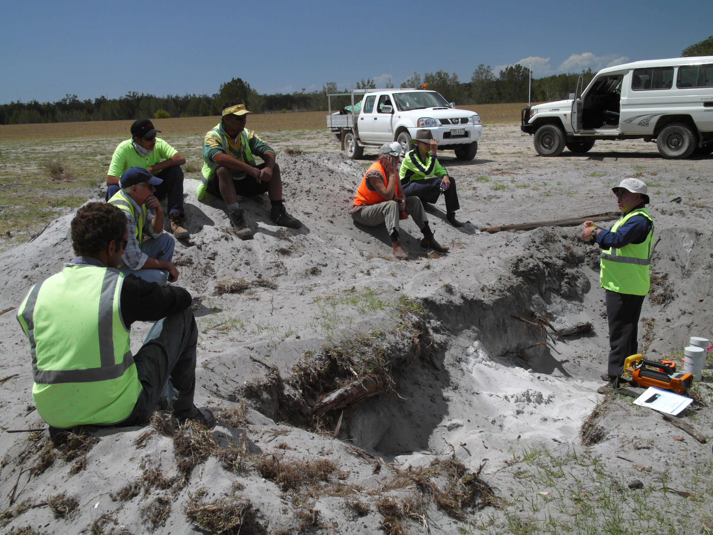 Geomorphological testing in progress at Cobaki Lakes, NSW.