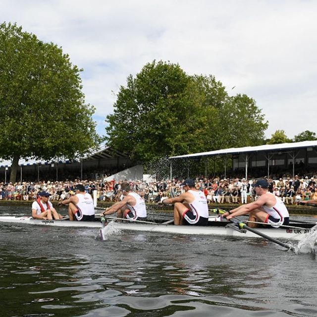 RACE 4: In the #Raceoftheday @ministeredesarmees 🇫🇷 defeated @hm_armed_forces 🇬🇧 in a nail biting race @henleyroyalregatta  #TheKingsCup #fittestandfinest #oarsometogether