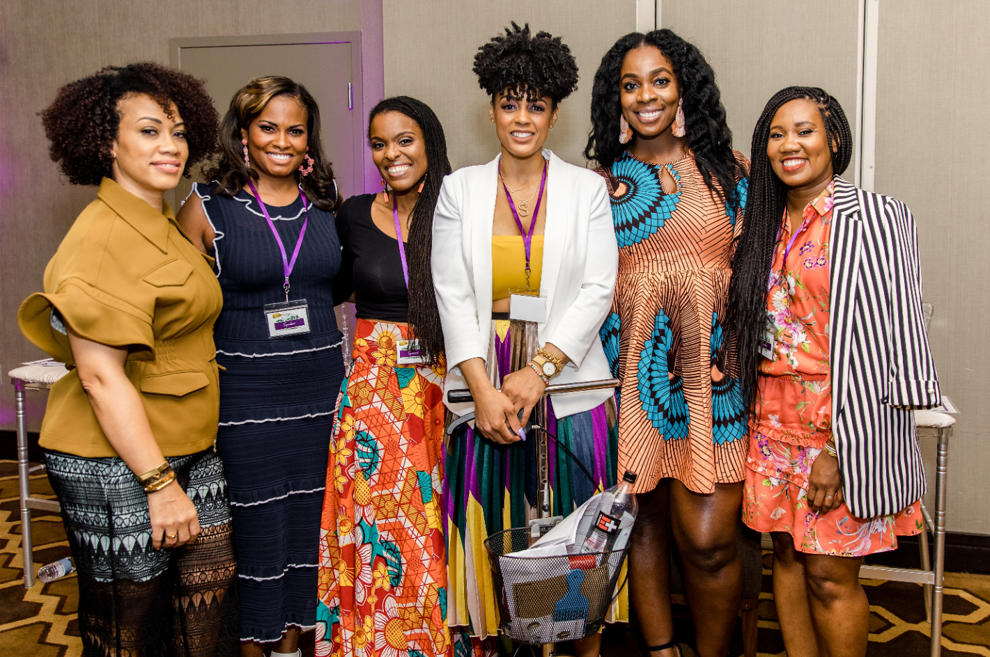 Mommy In The Streets Panelist (From left to right: Gabrielle Corney, Lynne Lightfoote, MD, Regina Tucker, Anowa Adjah, Mikaela Pabon) Photo Cred: Iris Mannings ( https://www.irismannings.com/)