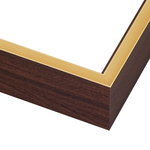 WALNUT WOOD WITH GOLD