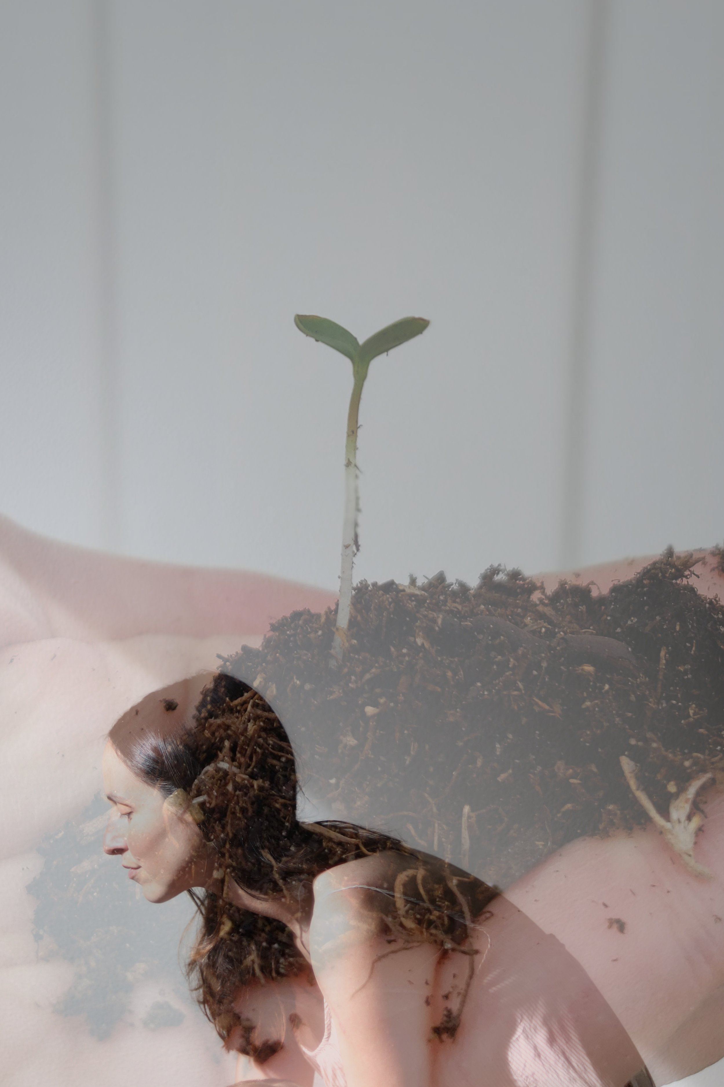 """Image taken by Debora during the course lesson """"Double Exposure Self Portraits."""""""