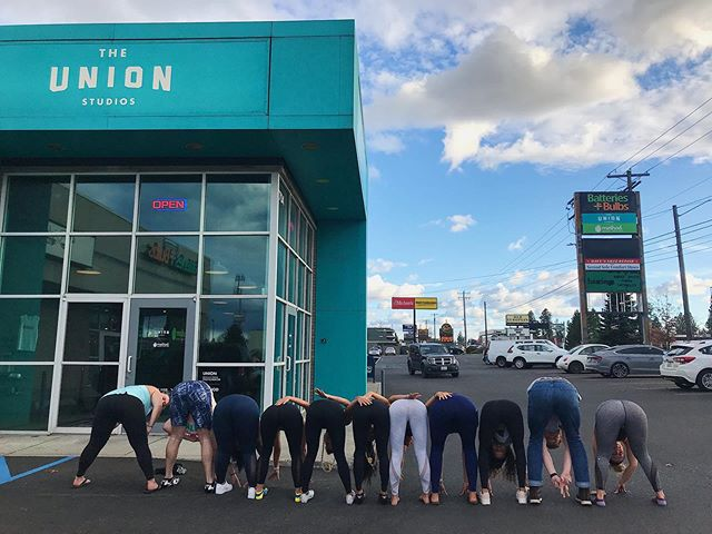 The perfect view on our hump day! Here's a little reminder to shake your booty before the day's over 🍑! . . . . . #sweatspokane #humpday