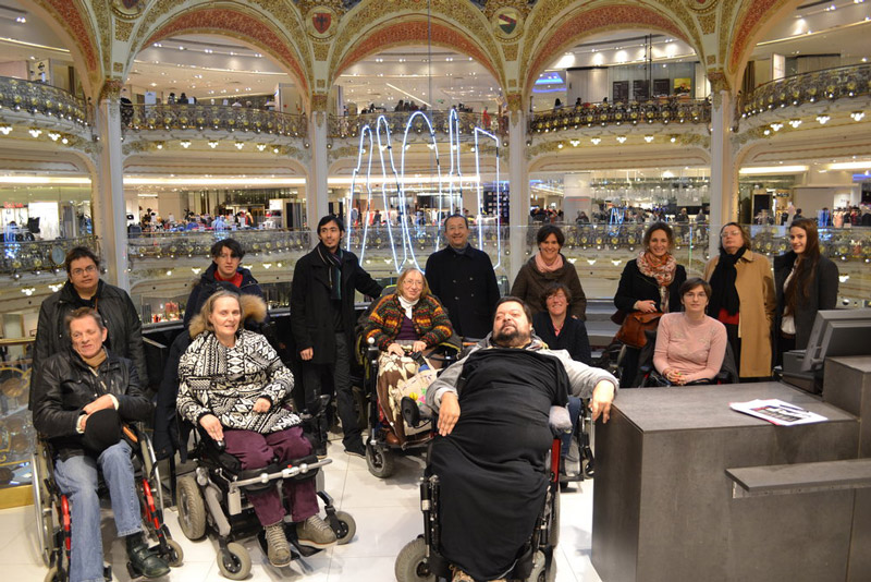 Evénement avec l'association Simon de Cyrène au sein des Galeries Lafayette Paris Haussmann