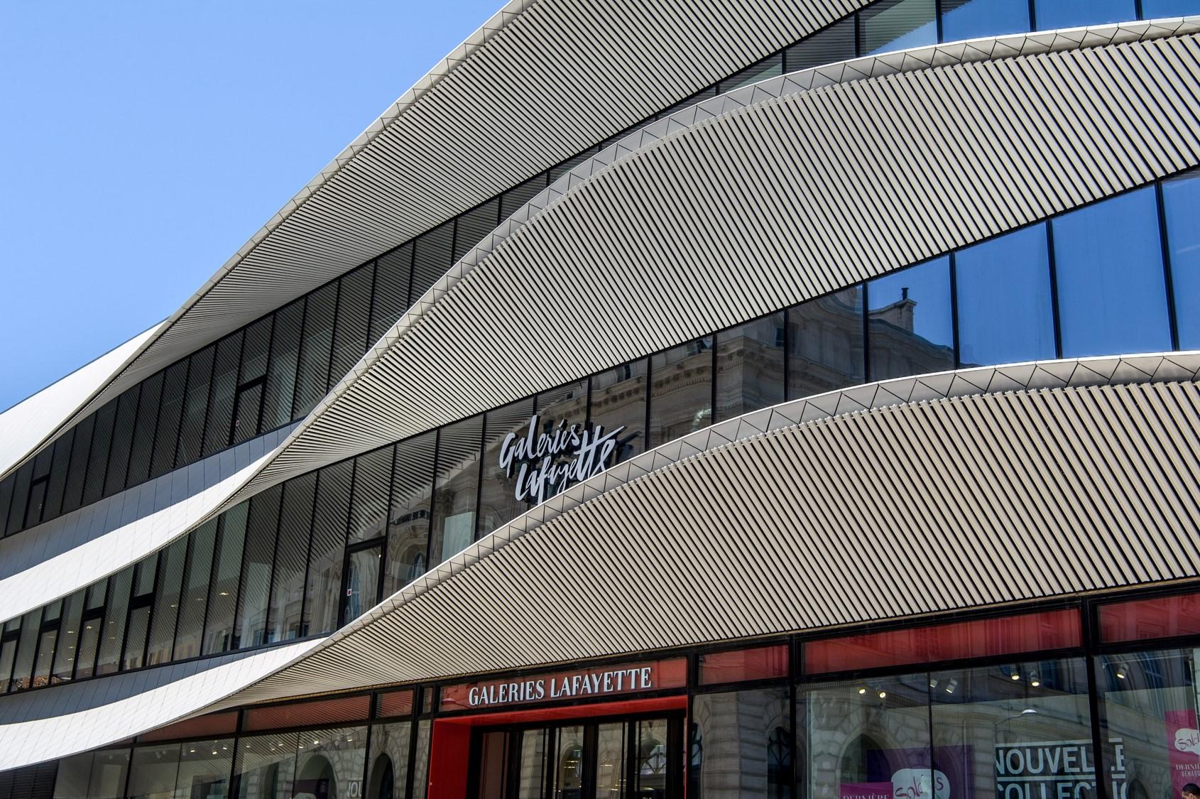 Galeries Lafayette de Marseille Bourse, réalisation de l'agence Moatti - Rivière, 2016