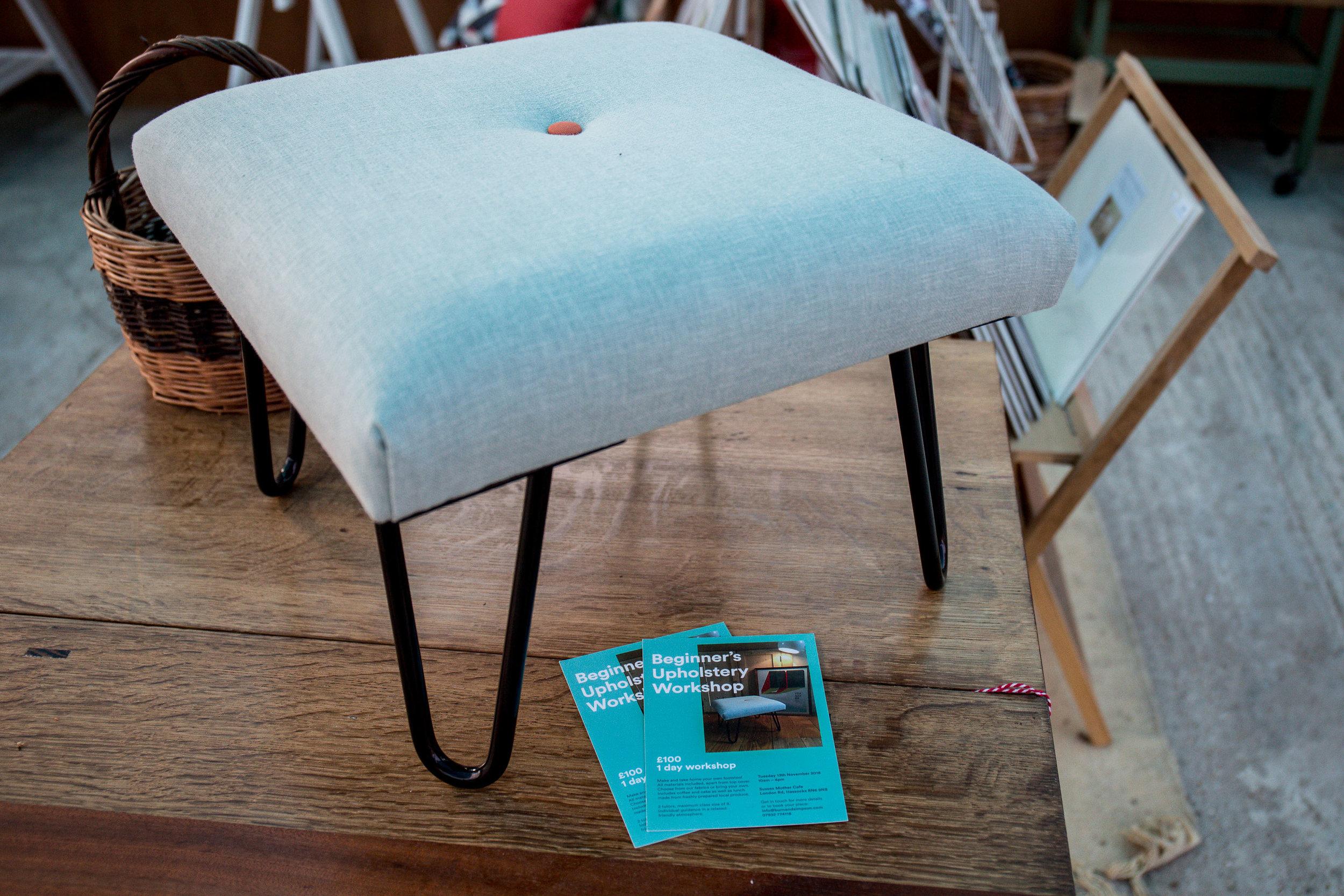 Upholstery Workshop Bench Sample