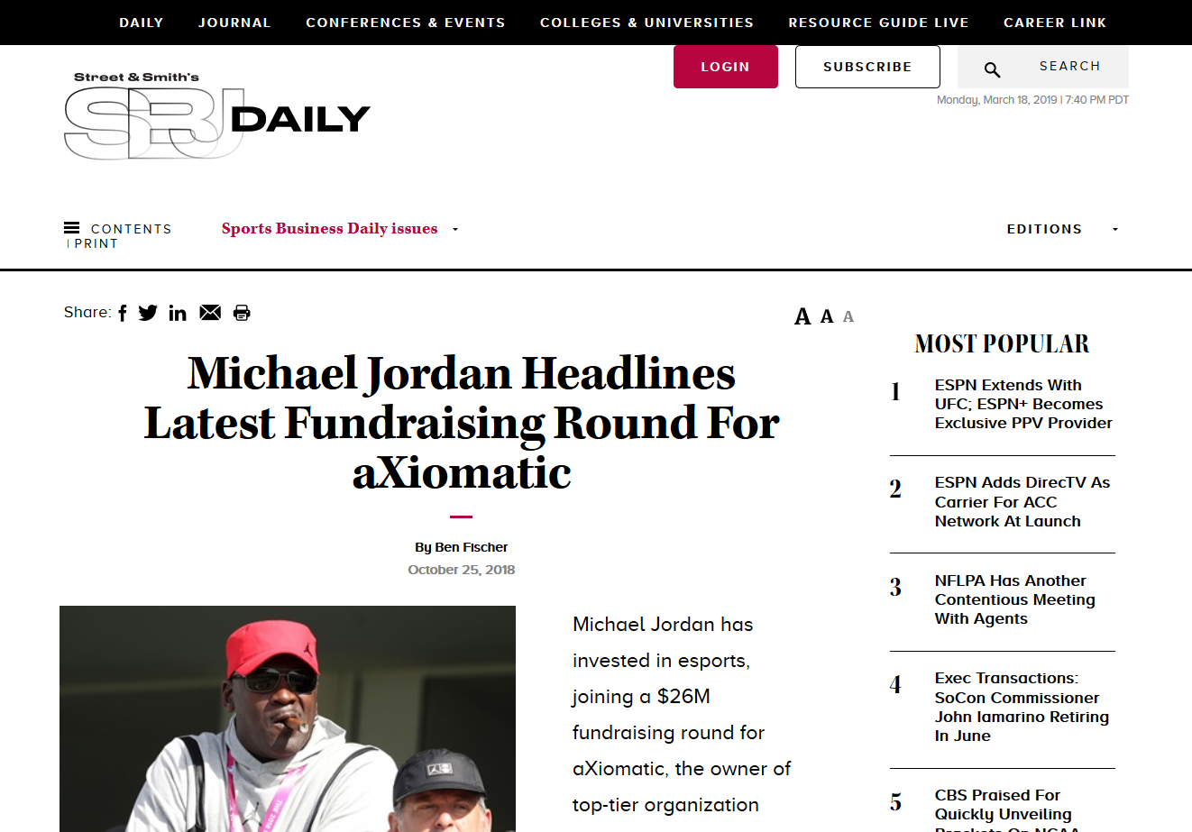 SportsBusiness Journal Screen Shot aXio.png