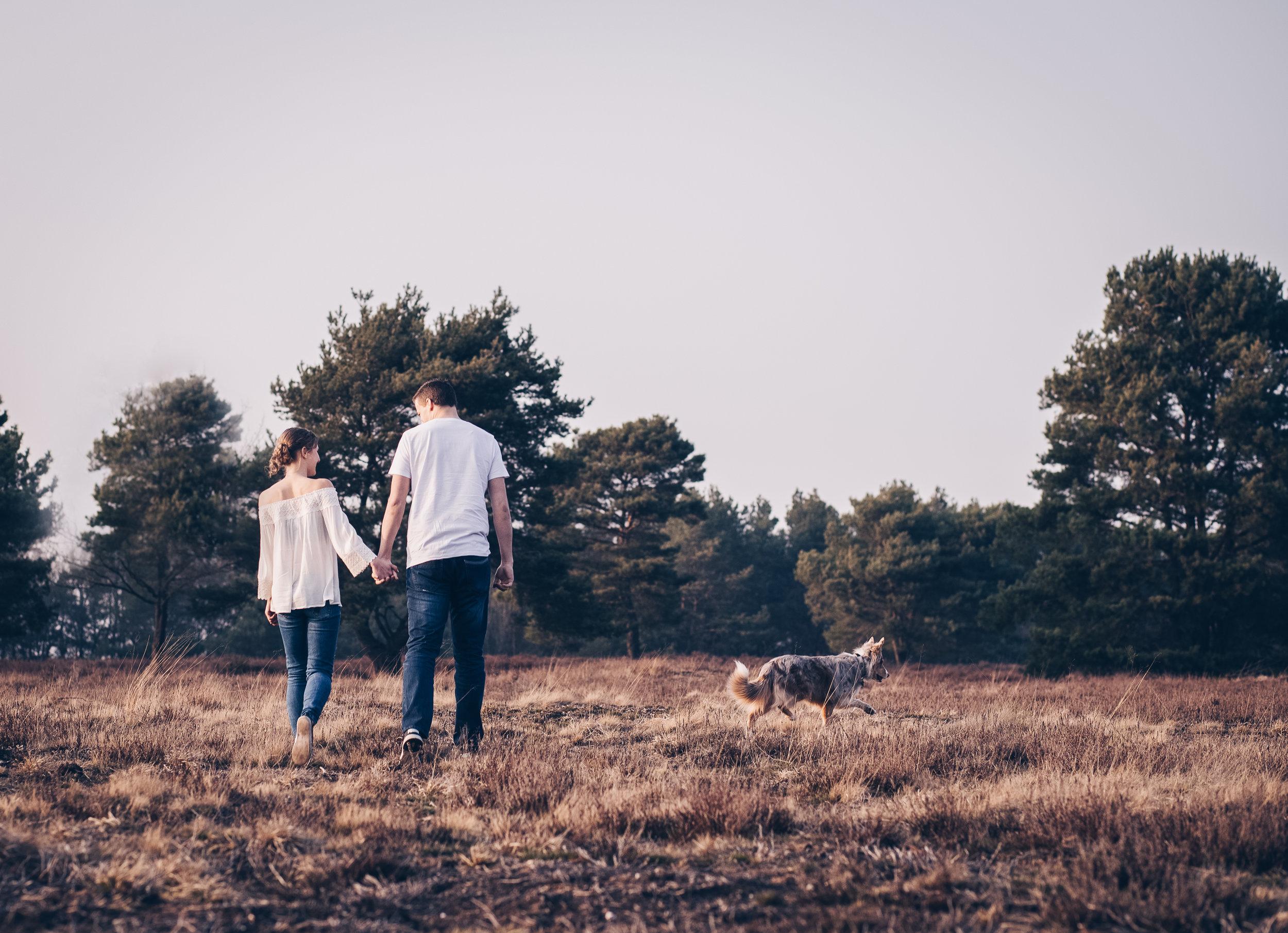 Paarshooting mit Hund in der Mehlinger Heide