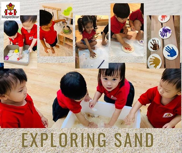 This June we launched our holiday project: let's explore sand! Our children engage with their senses to discover properties of sand and the natural world. They can't wait to make sand art next week!  #maplebearwestcoast #play #earlychildhood Book a visit at www.maplebearwestcoast.org or call 94779420. — at MapleBear West Coast